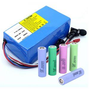 Litija akumulators 18650 48V 12AH 48V 500W elektriskā velosipēda akumulators ar BMS