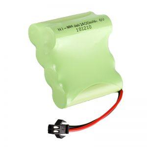 NiMH uzlādējamais akumulators AA2400 6V uzlādējamo elektrisko rotaļlietu darbarīku akumulators