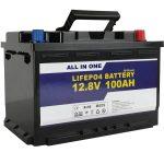 GEL / AGM nomaiņa saules enerģijas akumulatoram 12v 100ah LifePo4 litija jonu akumulators