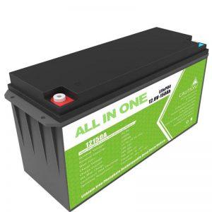 Lielas ietilpības 12.8v 150ah litija akumulators mājas saules uzglabāšanai
