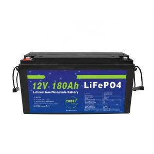 LiFePO4 litija akumulators 12V 180Ah saules enerģijas uzglabāšanas sistēmām elektriskajiem velosipēdiem