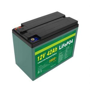 Apkope Pielāgota saules baterija 12v 40ah 42ah Lifepo4 Cell Lifepo4 akumulators ar BMS