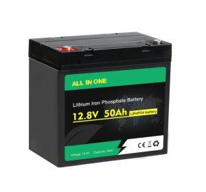 Viss vienā Lifepo4 akumulators 12v 50ah dziļš cikls