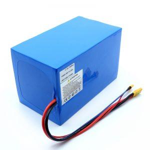 Litija akumulators 18650 48V 51,2AH 24v 30V 60V 15ah 20Ah 50Ah litija jonu akumulatori 18650 48V litija jonu akumulators elektriskajam motorolleram