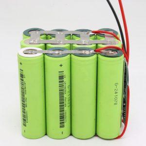 Vairumtirdzniecība pielāgota 18650 litija 4s3p ūdensizturīga PCB plāksnes dziļa cikla akumulators 12v 10AH elektroinstrumentam