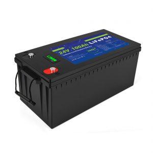 Dziļa cikla litija jonu akumulators Lifepo4 24v 200ah saules akumulators 3500+ ciklu li jonu akumulators