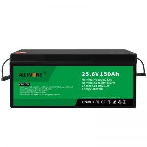 25.6V 150Ah LiFePO4 svina skābes nomaiņas litija jonu akumulators 24V 150Ah