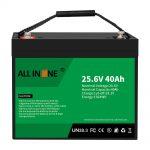 25.6V 40Ah litija dzelzs fosfāta akumulators/nomaiņa