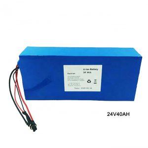 Elektriskā velosipēda 24 voltu litija akumulators 24V 40Ah NMC litija jonu akumulatoru lādējamais akumulators jonu litijs