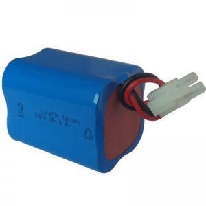 lifepo4 saules gaismas akumulators 6.4v 6ah 2S2P pārnēsājams