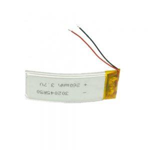 LiPO pielāgots akumulators 302045 3,7 V 260mAh