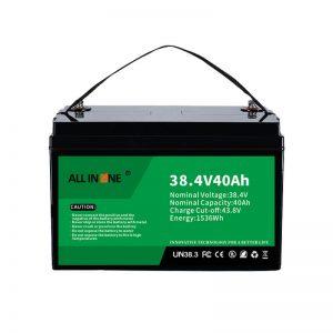 8.4V 40Ah litija dzelzs fosfāta akumulators VPP/SHS/jūras/transportlīdzeklim 36V 40Ah
