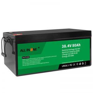 38,4 V 80Ah LiFePO4 svina skābes nomaiņas litija jonu akumulators, 36V 80Ah