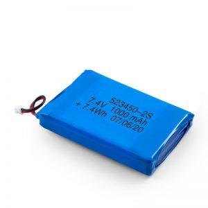 LiPO uzlādējamais akumulators 523450 3,7 V 1000 mAH / 7,4 V 1000 mAH / 3,7 V 2000 mAH