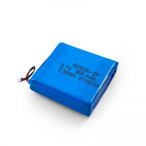 Pielāgota uzlādējama 3,7 V 450 530 550 700 750 800 900 mAh Li-Po Lipo baterija