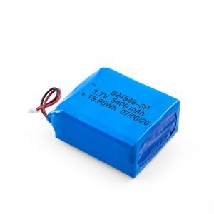 LiPO uzlādējamais akumulators 624948 3,7 V 1800mAH / 3,7 V 5400mAH