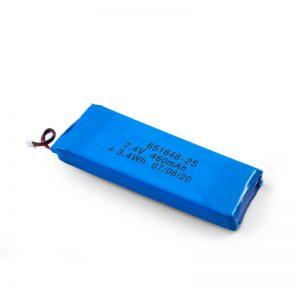 LiPO uzlādējamais akumulators 651648 3,7 V 460 mAh / 3,7 V 920 mAH / 7,4 V 460 mAH