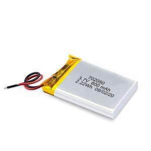 Ķīna vairumtirdzniecība 3.7V 600Mah 650Mah Mini Li-Polymer litija akumulatoru uzlādējamo bateriju paka