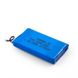 LiPO uzlādējamais akumulators 783968 3,7 V 4900 mAH / 7,4 V 2450 mAH / 3,7 V 2450 mAH /