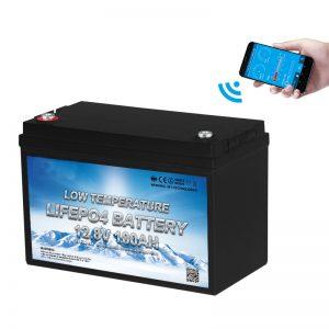 Zemas temperatūras LiFePO4 akumulators 12V 100AH