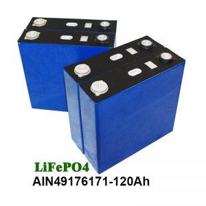 LiFePO4 prizmatiskais akumulators 3.2V 120AH saules enerģijas sistēmas motocikla UPS
